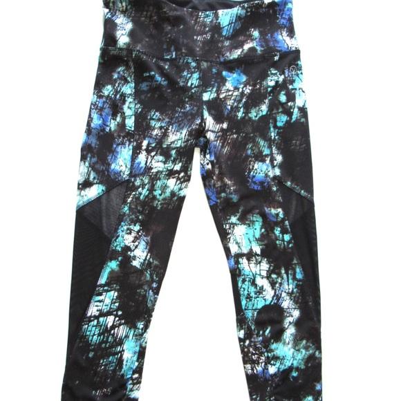 eed6775a32 VOGO Athletica Pants | Print Mesh Cropped Leggings | Poshmark
